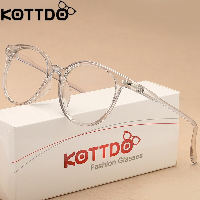 KOTTDO Fashion Transparent Glasses Optical Frames For Women Cat Eye Frame Men Eyeglasses Eyewear  Oculos