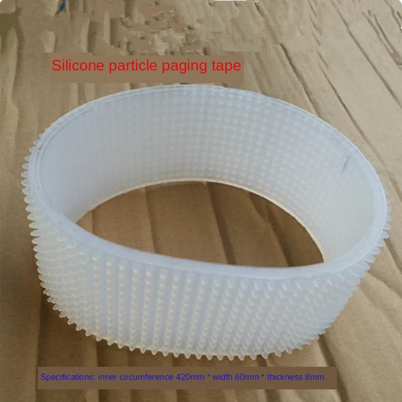 Perímetro 420mm ancho 60mm grosor 8mm máquina de paginación cinta transportadora correa de silicona tipo de fricción máquina separadora