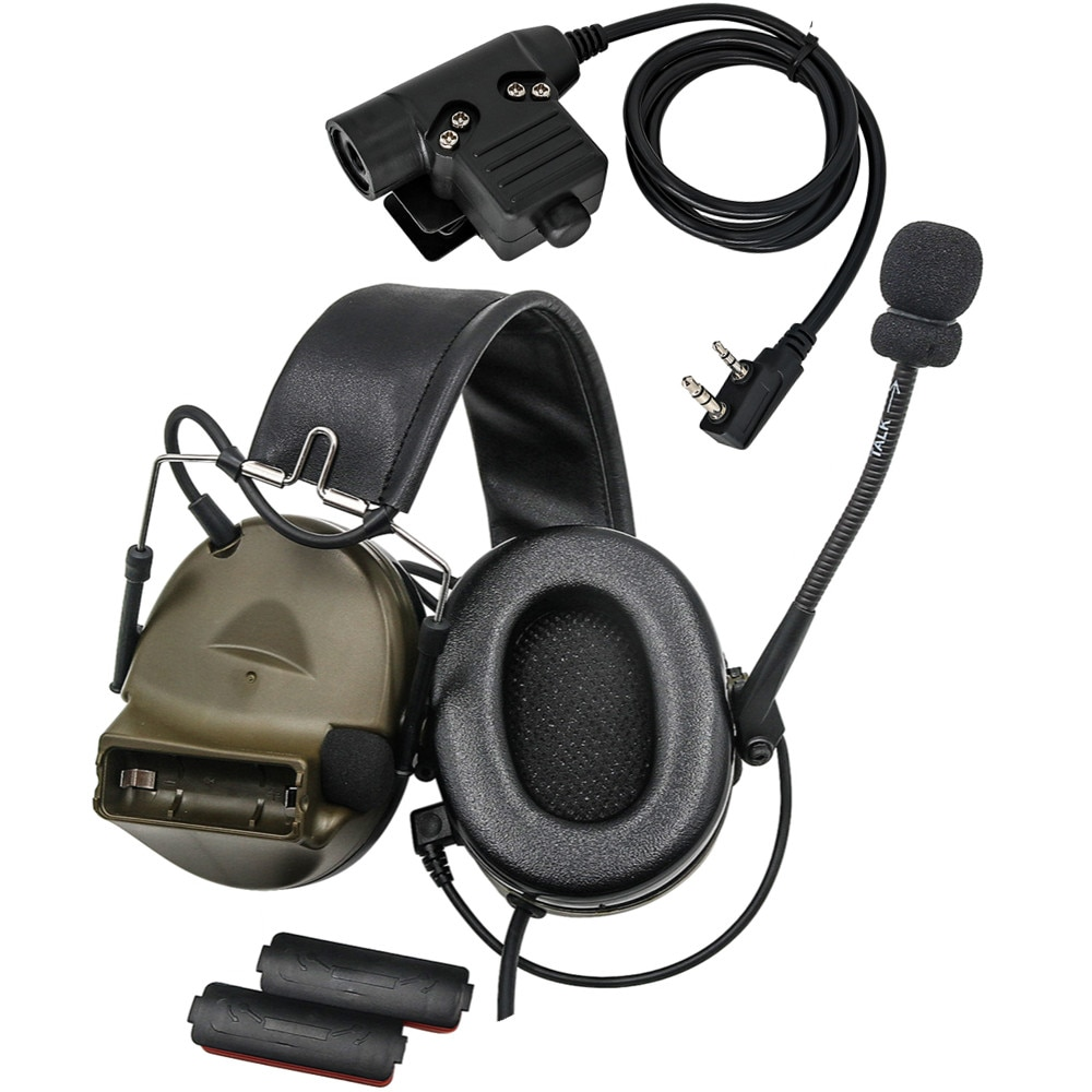 PELTO COMTAC II Tactical Headset Electronic Earmuffs Comtac Hearing Protection Pickup and Noise Reduction Military Headphone
