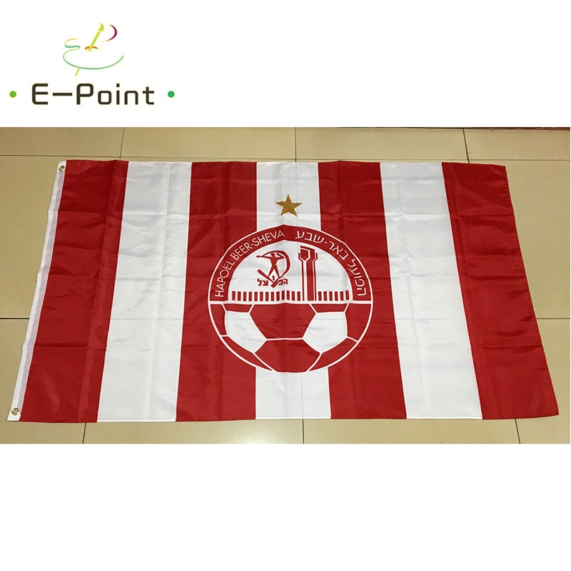 Israel Hapoel Beer-Sheva FC 3ft*5ft (90*150cm) Size Christmas Decorations for Home Flag Banner Type C Gifts