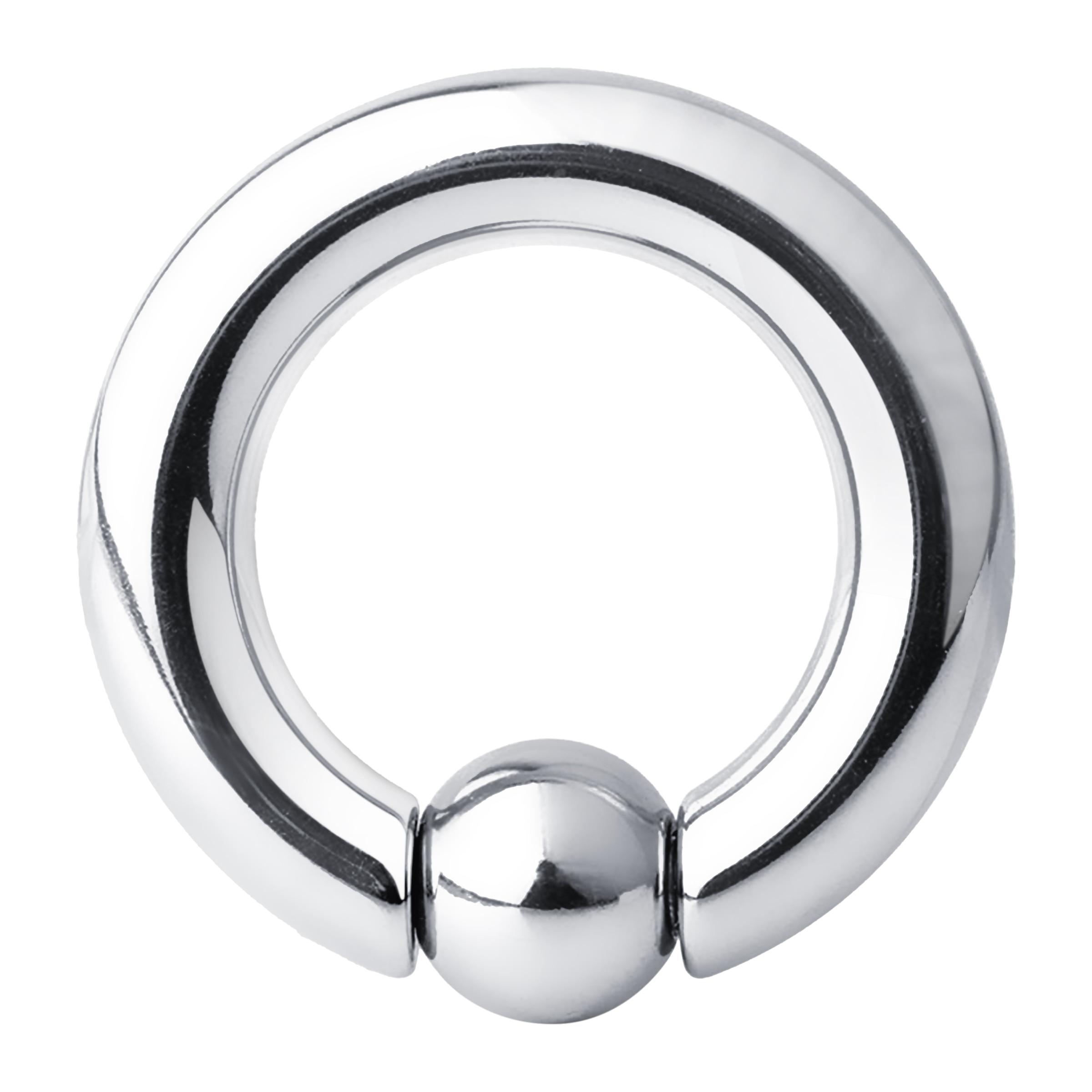 1PCS Stainless Steel Bead Hoop Earrings Nipple Nostril Large Ring.