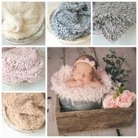 8 color soft fur fabric nest blanket for newborn photography props backdrop 8060cm baby shoot studio accessories basket stuffer