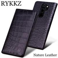 rykkz genuine leather case for xiaomi mi redmi note 8 pro ultra thin flip cover handmake leather cases for redmi note 7 mi max 3