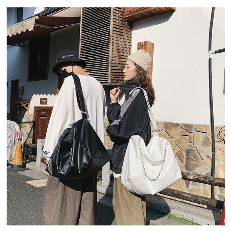Fashion Shoulder Bag Women unisex Handbags Large Capacity Leather Travel Tote Simple Hobo Bags Messenger Chain Travel Crossbody