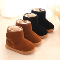 new plush warm baby toddler boots fashion children snow boots shoes for boys girls winter shoes 1 3 year old kids ankle boots