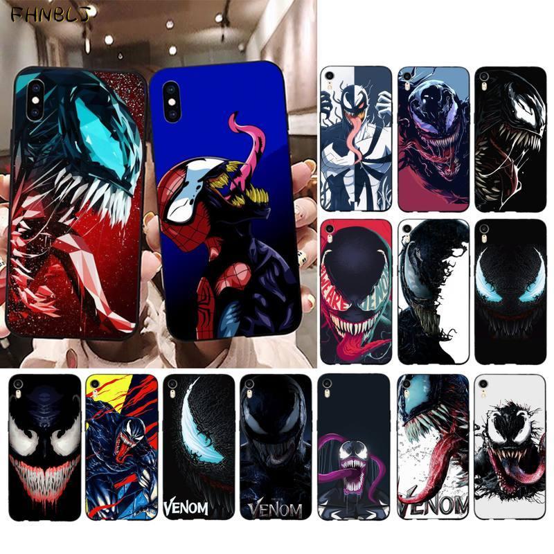 FHNBLJ Venom 2018, película MCU Bling, bonita funda de teléfono para iPhone 11 pro XS MAX 8 7 6 6S Plus X 5 5S SE 2020 XR