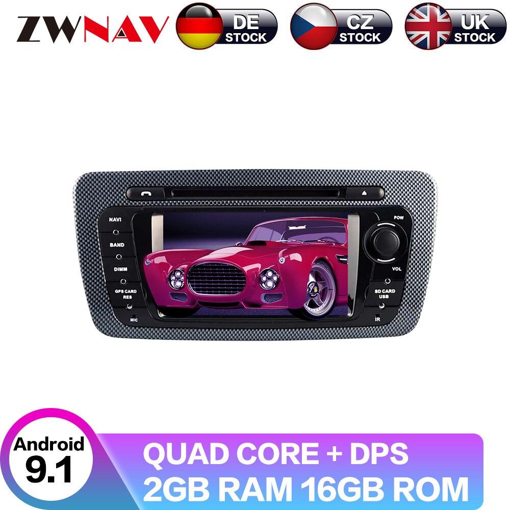 Android 9 con pantalla IPS DSP para Seat Ibiza 2009-2013 Radio, navegación GPS para coche, Unidad Principal multimedia, reproductor DVD