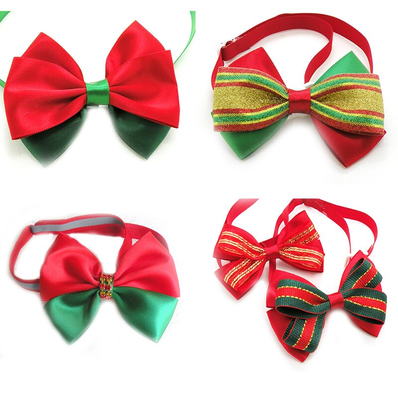 50-100-pcs-pet-dog-christmas-bowties-classic-style-accessories-christmas-small-middle-dog-bow-ties-holiday-grooming-pet-supplies