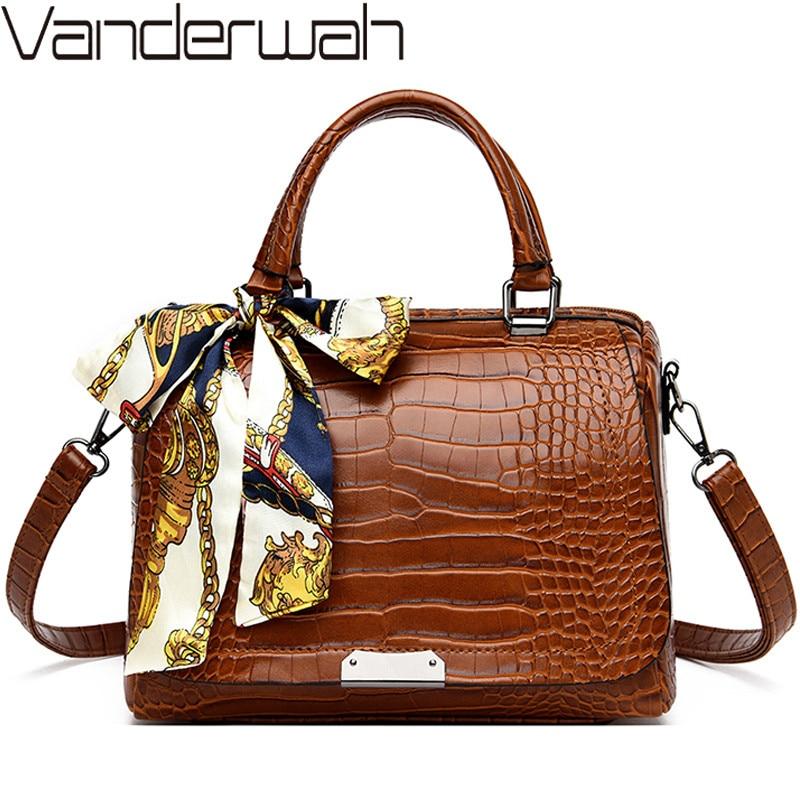 Luxury Alligator Handbags Women Bags Designer Ladies Top-handle Bag Crocodile Shoulder Crossbody Bags For Women Hand Bag Bolsas
