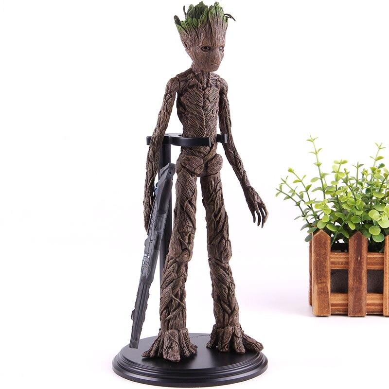Vengadores 3 juguetes de la guerra infinita tutores de la galaxia el hombre del árbol PVC figura de acción modelo coleccionable muñeco de regalo Anime