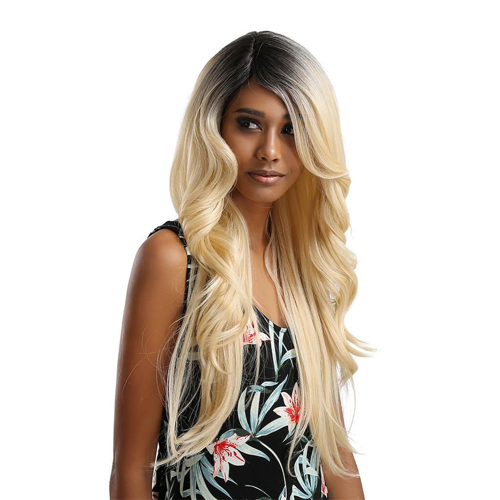 المرأة أسود بيج الجسم موجة شعر مستعار الدانتيل الجبهة شعر مستعار مجعد تأثيري الطرف الاصطناعية
