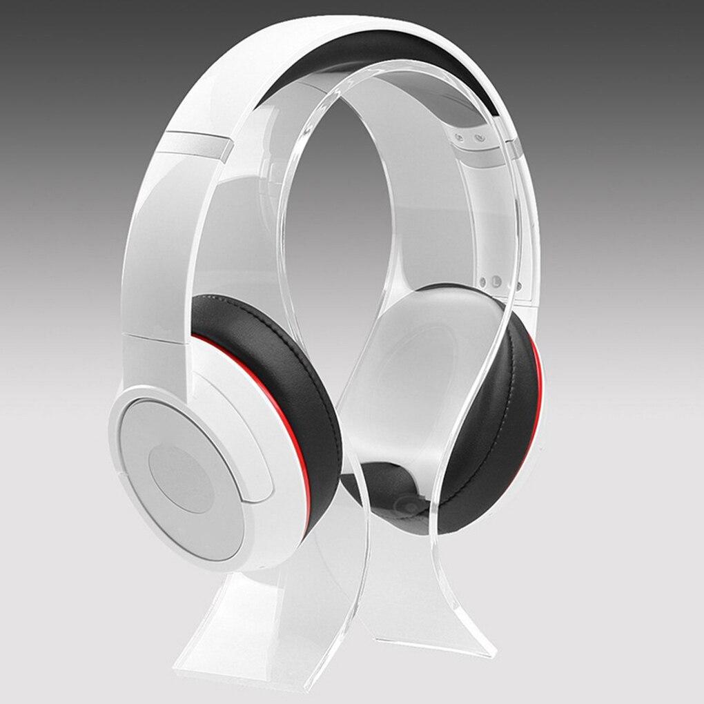 Novo suporte de fone de ouvido portátil titular cabide universal acrílico display para fones de ouvido suporte adequado para todos os tamanho do fone de ouvido