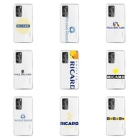 france luxury beer brand ricards phone case for huawei p40 p30 p20 mate honor 10i 30 20 i 10 40 8x 9x pro lite transparent cover
