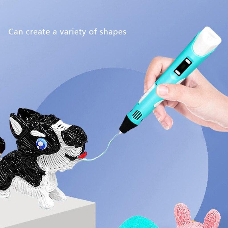 القلم ثلاثية الأبعاد للطفل ثلاثية الأبعاد الطباعة القلم مع خيط ABS USB لتقوم بها بنفسك لعبة هدية عيد ميلاد