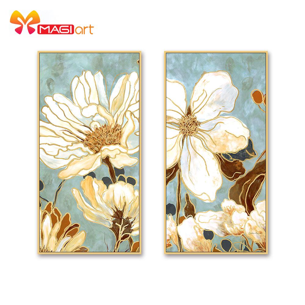 Kits de punto de cruz juegos de costura bordado 11CT lienzo pintado al agua patrones 14CT estilo Floral Lotus-NCMF266 de madera