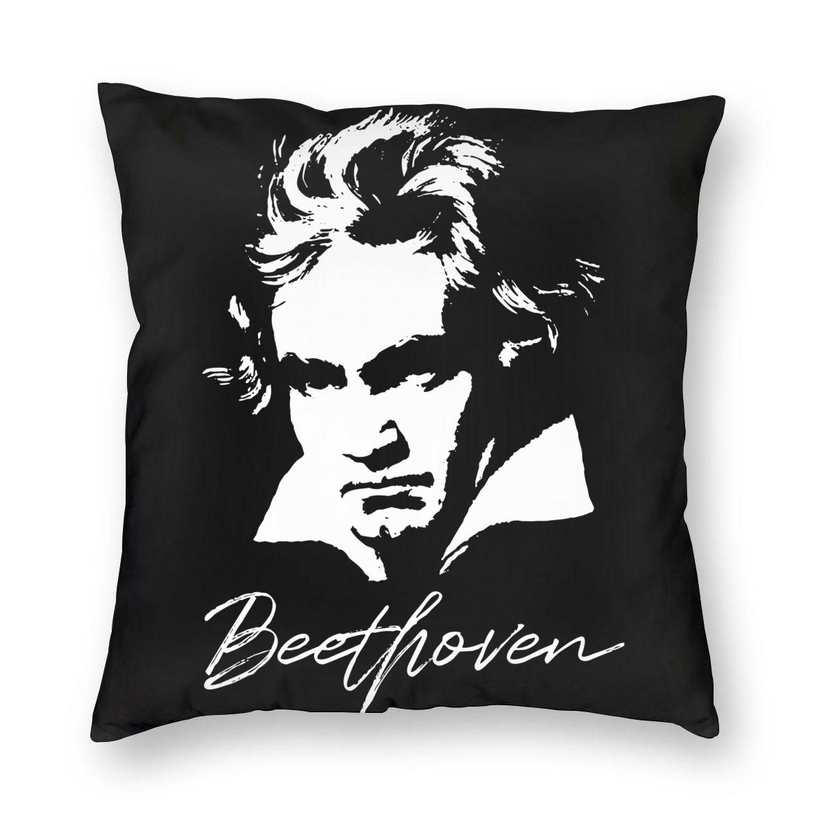 Ludwig Van beetken-funda de almohada cuadrada de poliéster, decorativa, divertida funda de...