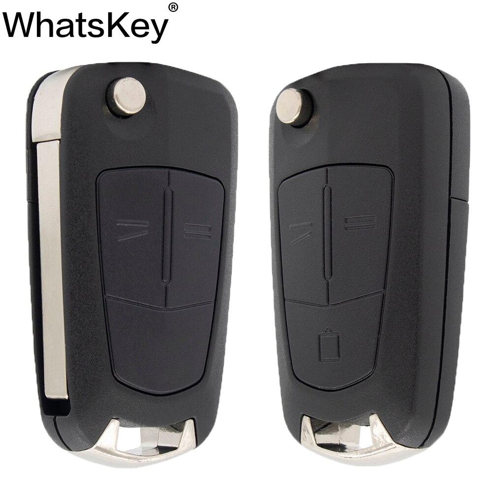 "WhatsKey 2 Flip botón remoto plegable funda de control remoto de coche para Opel Vauxhall Corsa D Astra J G Zafira ""Vectra B Mokka G Insignia"