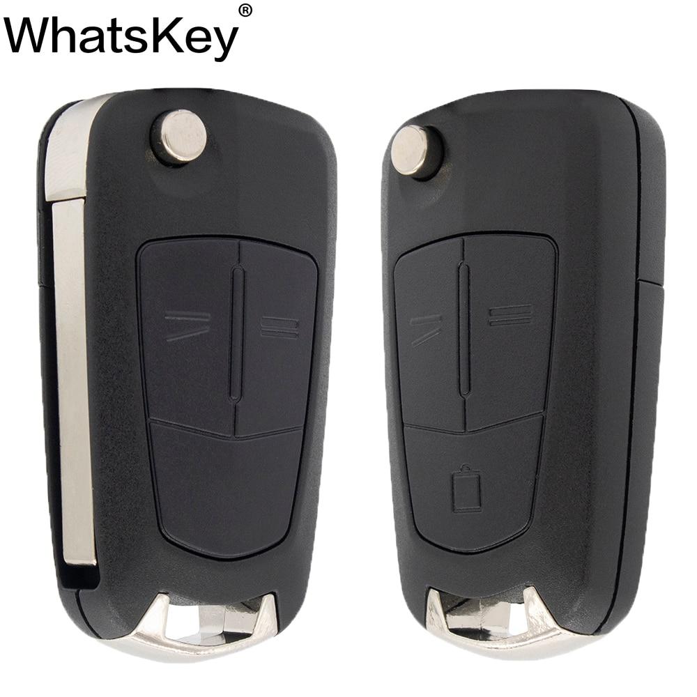 Складной автомобильный брелок WhatsKey с 2 кнопками, чехол для Opel Vauxhall Corsa D Astra J G Zafira '''a Vectra B Mokka G Insignia