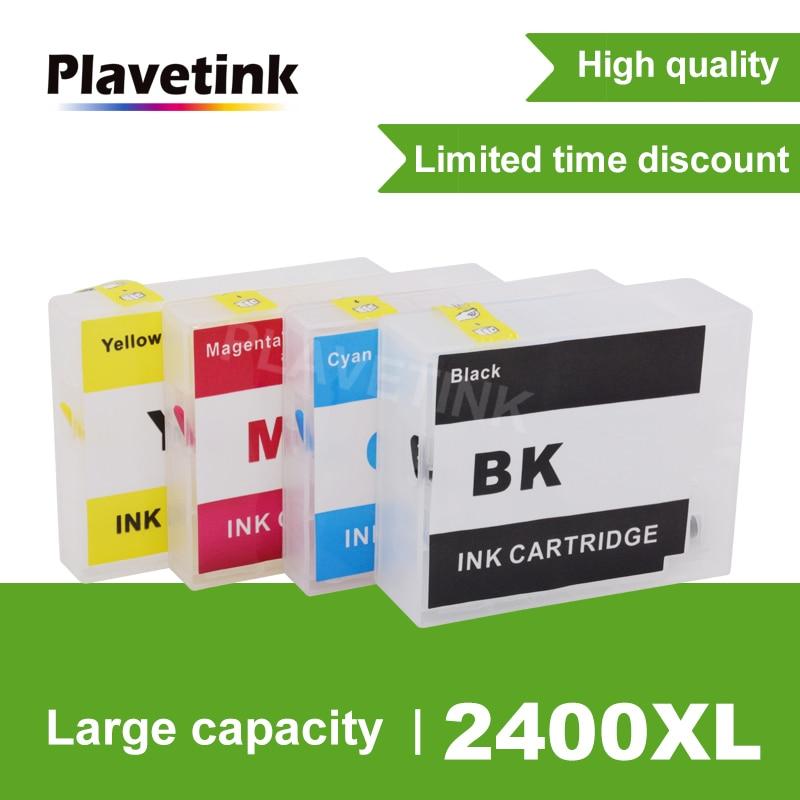 Plavetink الحبر خرطوشة لكانون PGI-2400 XL الملء خراطيش لكانون PGI 2400 MAXIFY IB4040 iB4140 MB5040 MB5140 طابعة