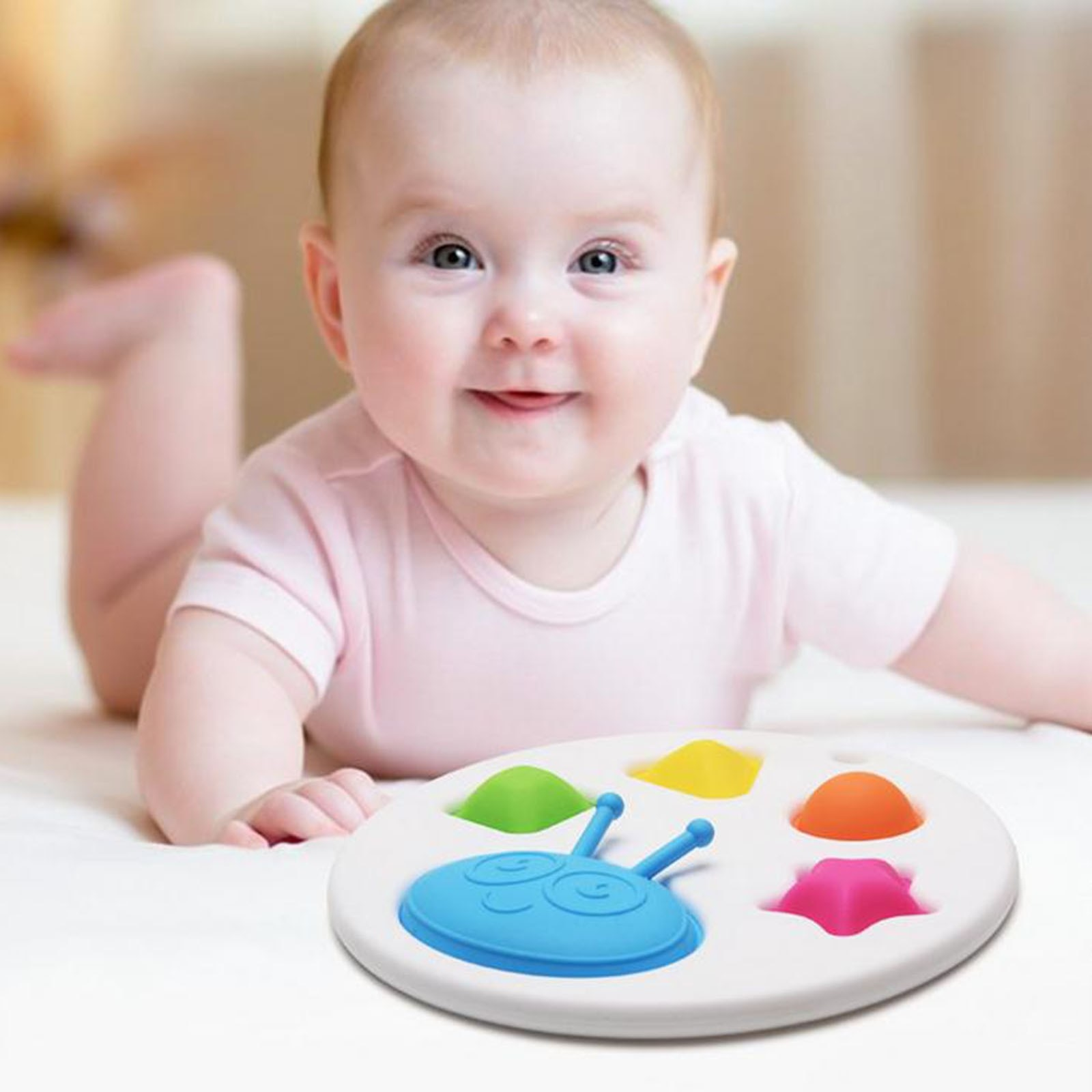 Baby Squeeze Fidget Sensory Toys Brain Development Enlightenment Early Education Montessori Training Board Toys Stress Relief 5* enlarge