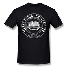 Arkham horror t camisa miskatonic universidade livro clube camiseta manga curta 100 algodão camiseta bonito de grandes dimensões streetwear tshirt