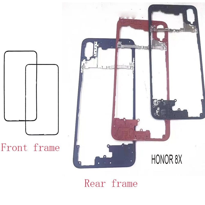For Huawei Honor 8X Front Bezel Middle Rear Back Frame Plate Housing Faceplate LCD Supporting