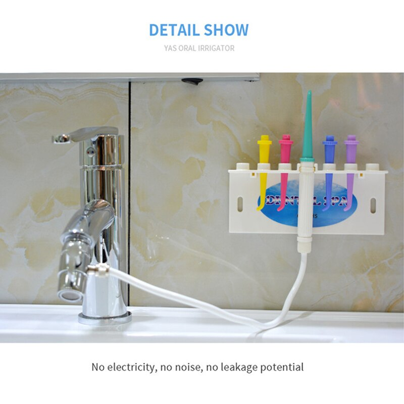 Faucet Water Dental Flosser Oral Irrigator Jet Interdental Brush Tooth SPA Cleaner Teeth Whitening Toothbrush Cleaning DSC enlarge