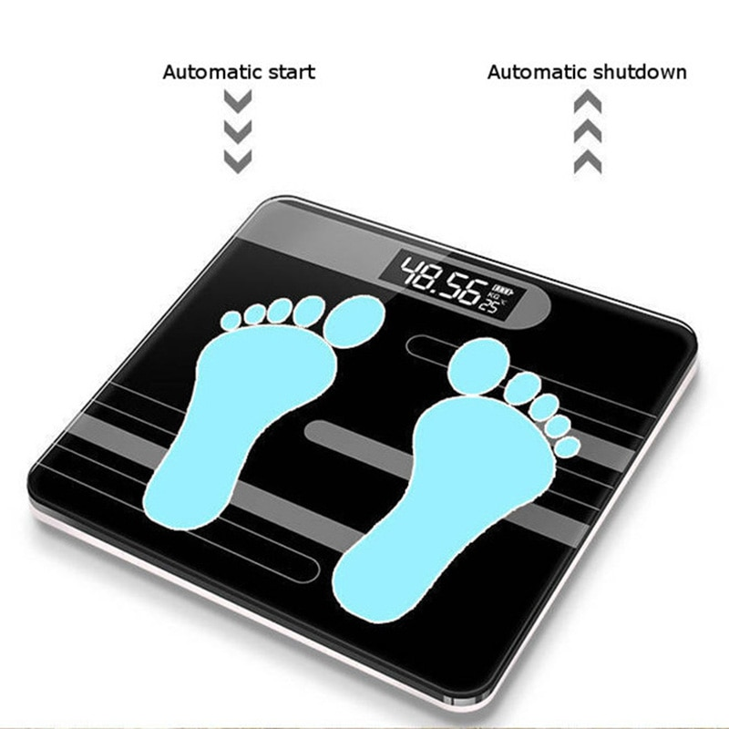 Bathroom Floor Scales LCD Display Body Scale Glass Smart Electronic Scales Digital Weight Balance Bariatric 26x26cm 180KG/50G enlarge