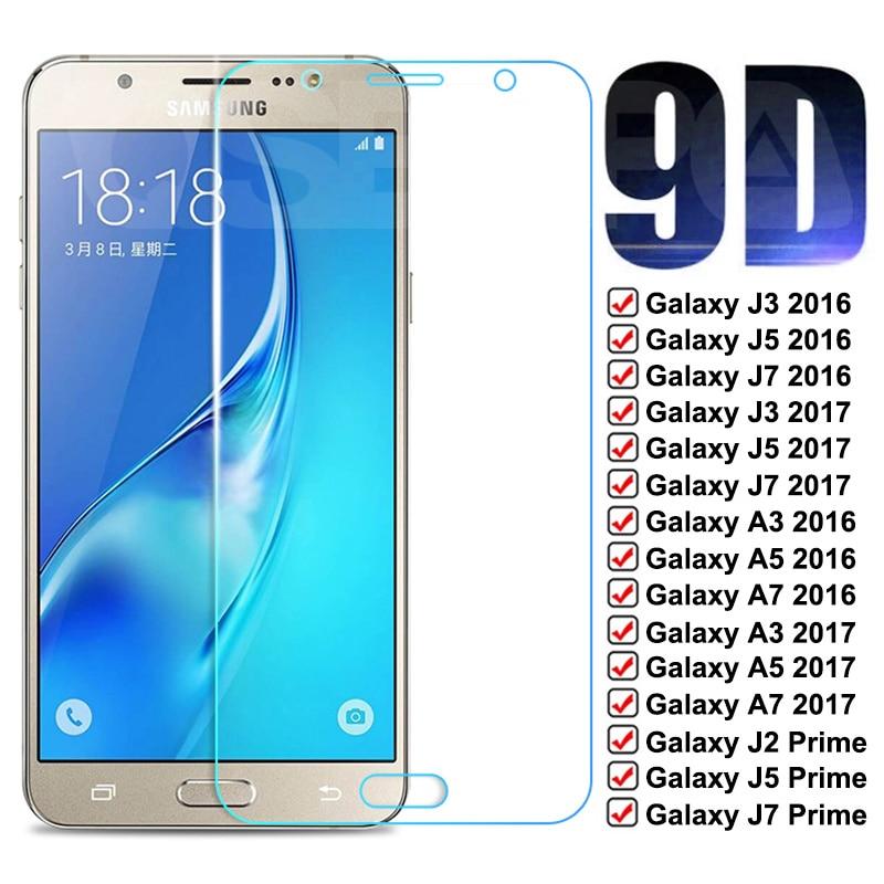9D de vidrio templado para Samsung Galaxy S7 A3 A5 A7 J3...