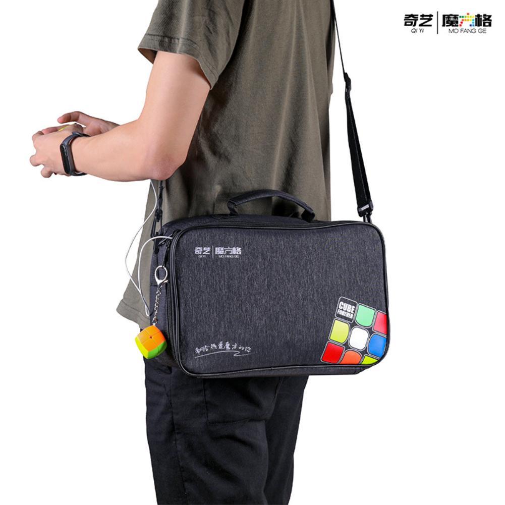Qiyi المكعب السحري حقيبة Qiyi صندوق متعدد الوظائف ل مكعبات الموقت 3x3 7x7 Qiyi صندوق الموضة لمحبي مكعب