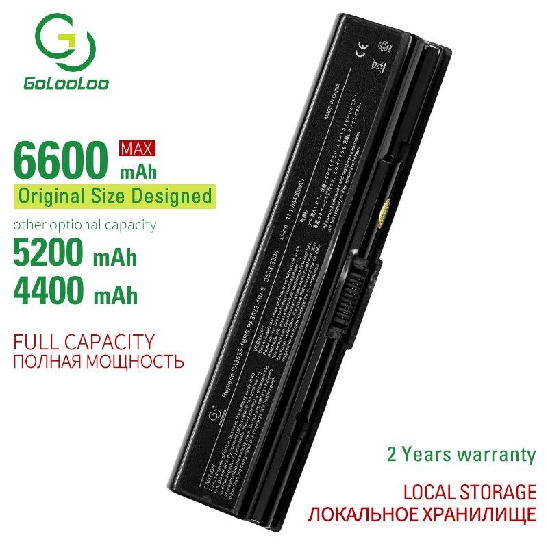 Golooloo 6 celdas de batería del ordenador portátil para Toshiba PA3534U-1BRS PA3727U-1BRS PABAS098 PABAS174 satélite A200 A215 A300 A300D A305