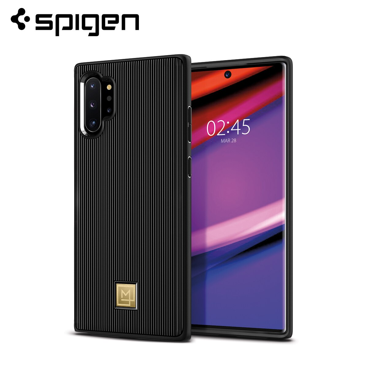 Spigen La Manon elegante de moda negro Funda flexible de TPU para Samsung Galaxy Nota 10 Plus/Galaxy Nota 10