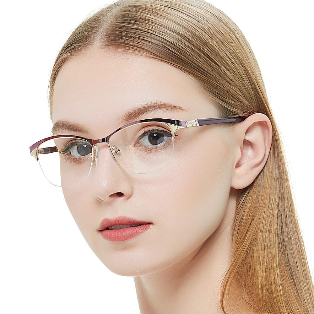 Оправа для очков Женская металлическая, винтажная оправа рецептурных очков, стильные пружинные петли, оптические очки OCCI CHIARI