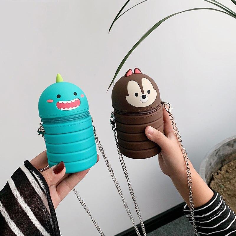 New Mini Small Bag Coin Purse Cute Cute Coin Purse Wild Girl Chain Shoulder Messenger Bag Student Dual-use Pen Bag