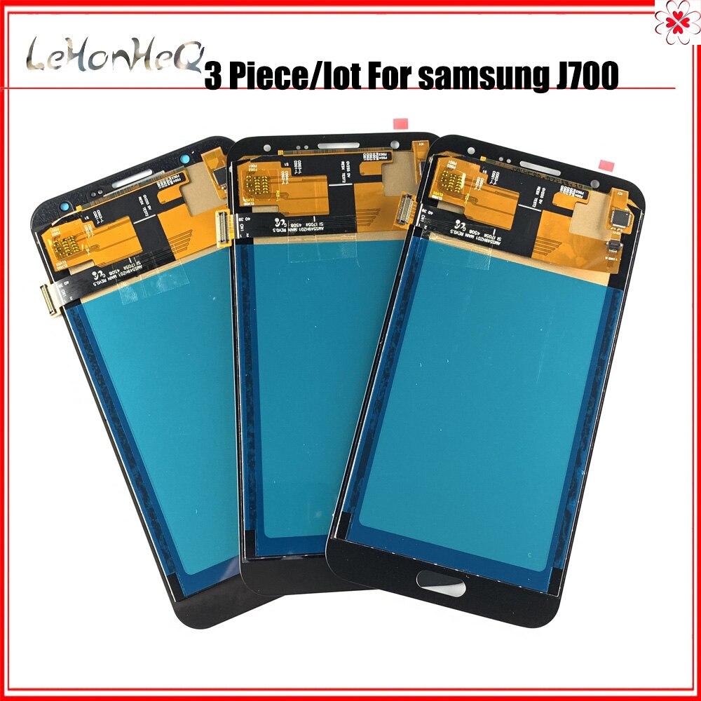 Prueba 3 unid/lote LCD para Samsung J7 2015 J700 pantalla LCD para Samsung J700 J700F J700M MONTAJE DE digitalizador táctil de pantalla LCD