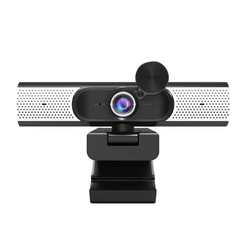 1080P Live Streaming Webcam USB Anti-spy Web W/ Dual Mic Privacy Cover Speaker