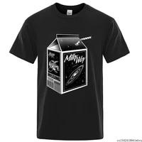 milky way milk cartoon prints creativity sweat mans short sleeve casual clothes comfortable crewneck men t shirts size m 5xl