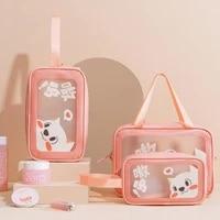 new ins cute cartoon multifunctional storage bag travel waterproof toiletries makeup bag handheld storage bags cosmetic bag
