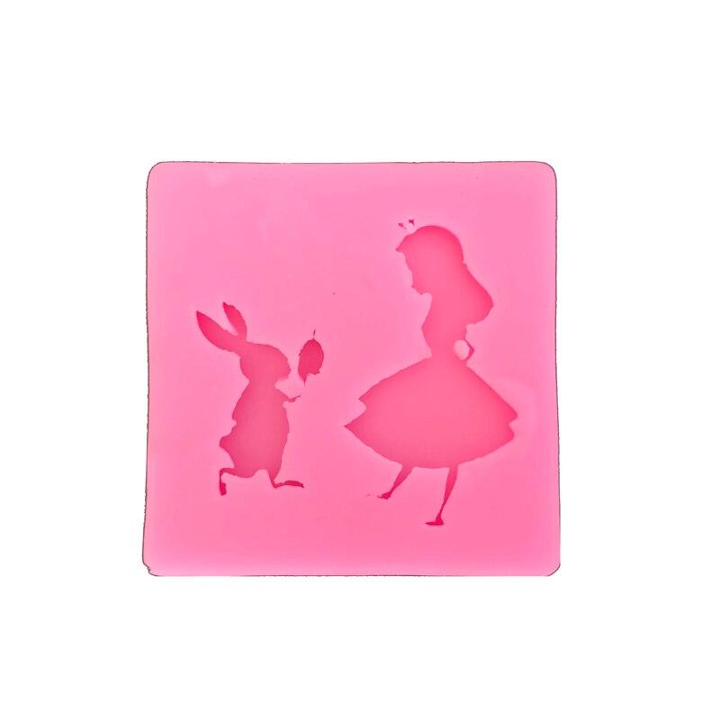 Alice Und Kaninchen Kochen Werkzeuge Fondant Gum Form Kuchen Dekorieren Ton Harz Zucker Candy DIY Sculpey