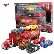 7 шт./компл. Disney Pixar машина 3 Lightning McQueen Jackson Storm Mack Uncle Truck 155 литьевая металлическая модель автомобиля игрушка мальчик Рождественский подарок
