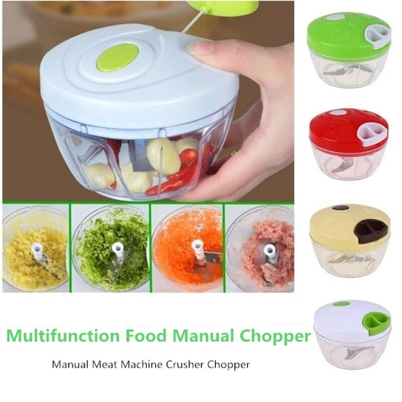 Trituradora Manual de alimentos, trituradora de vegetales, trituradora multifunción de alimentos para bebés, trituradora de máquina de carne, procesador portátil