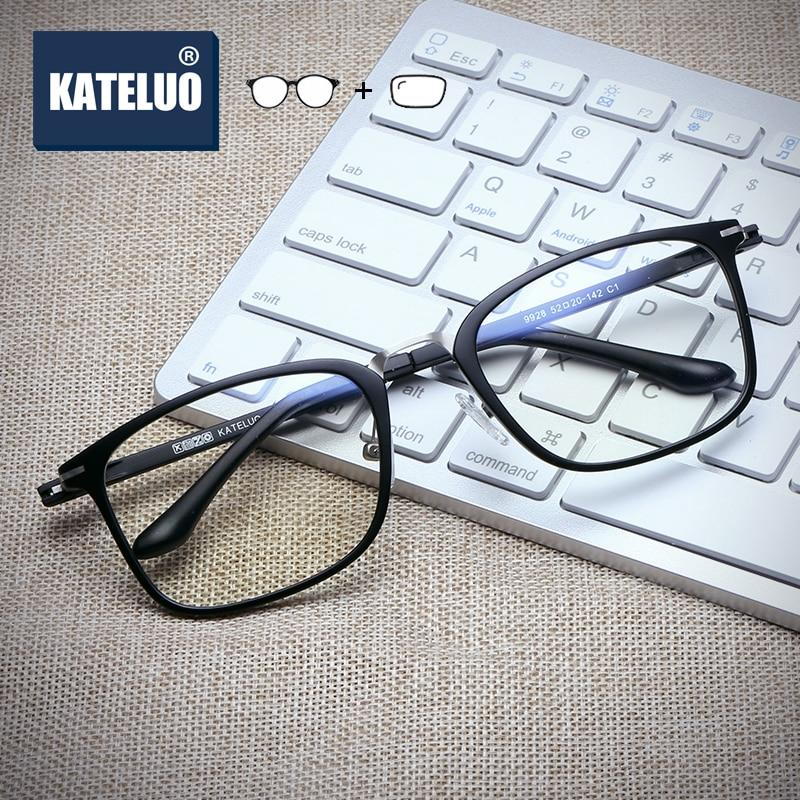 KATELUO TR-90 Photochromic Prescription Glasses Optical Eyeglasses Glasses Frame Myopia Eyeglasses G