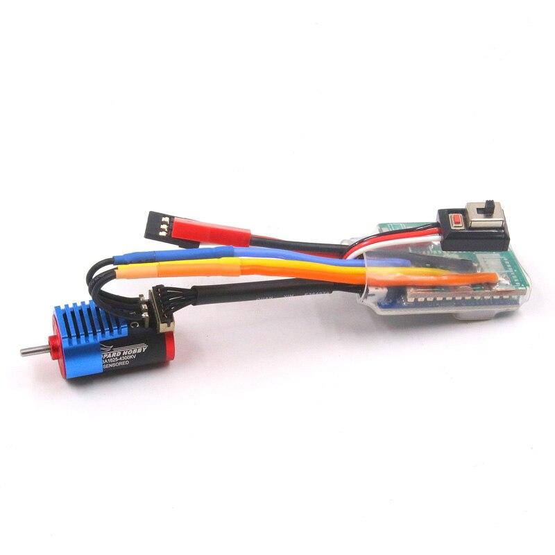 Brushless שדרוג נמר LBA1625 4300KV sensored brushless inrunner מנוע עם 45A sensored ESC קומבו עבור RC 1/24 1/28 רכב