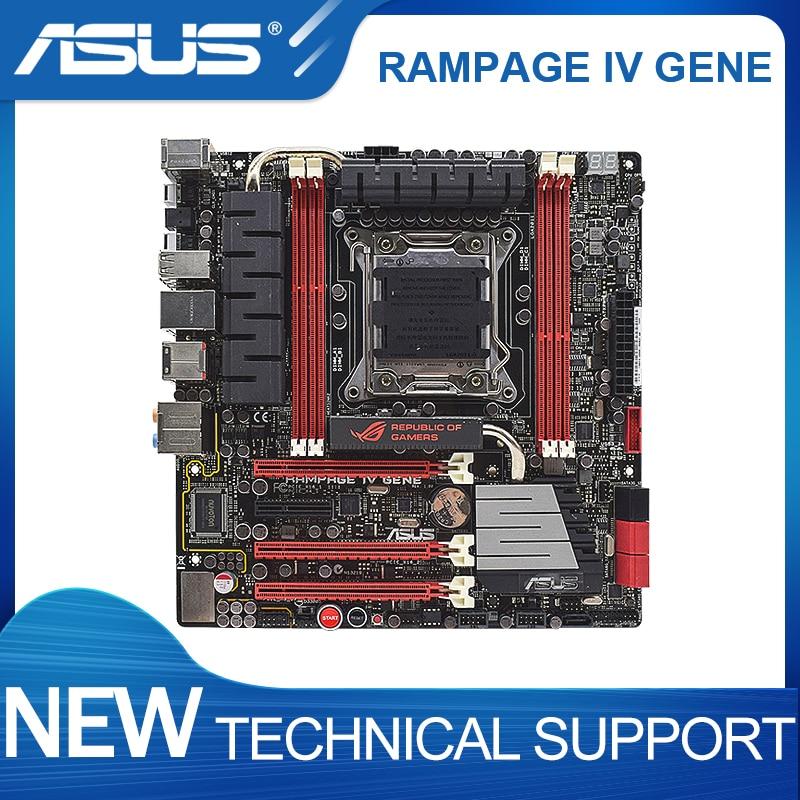 ASUS ROG RAMPAGE IV الجين lga 2011 إنتل x79 التعدين اللوحة ddr3 overwatch كور i7 cpus اللوحة X79 3 × PCI-E X16 3.0 فتحات