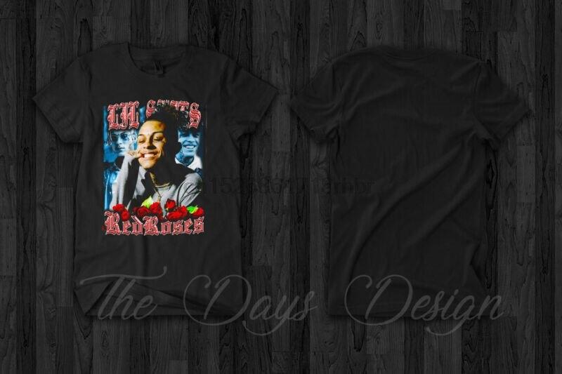 Lil Skies camiseta de rosas rojas lírico limonada Rap Hip Hop música Wiz Khalifa