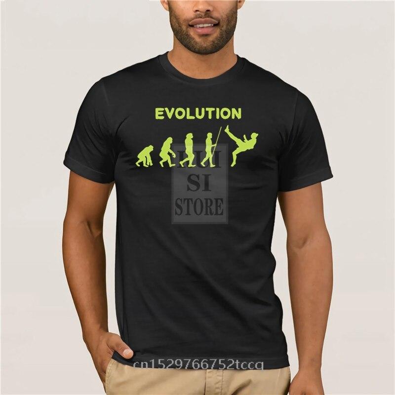 Camiseta de verano a la moda evolution of zlatan para hombre, camiseta casual de manga corta con cuello redondo con estampado frontal negro
