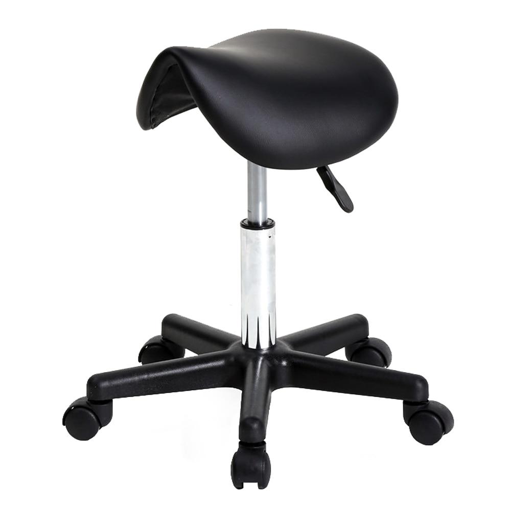 360 Degrees  Adjustable Saddle Stool Plastic Flat Feet Rotation Bar Stool Black  Bar Stool Chair Bar Stools Modern amerihome 2 piece bar stool set black