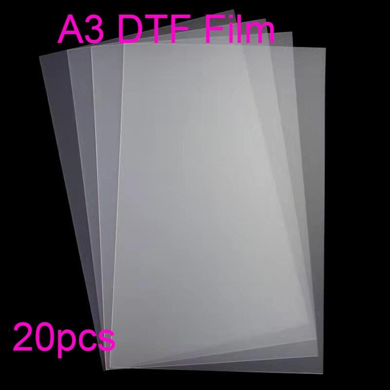 20 قطعة A3 Pet فيلم DTF لجميع طابعة DTF للطابعة Epson L1800 DTF