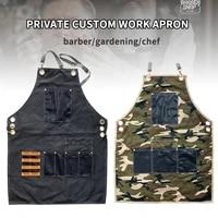 private custom salon hairdresser apron barber gardening chef kitchen apron with logo uniform
