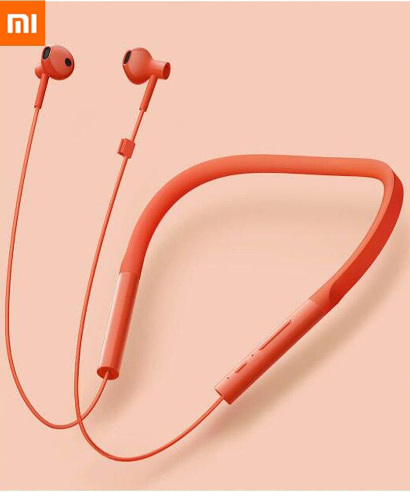 Xiaomi قلادة سماعة بلوتوث اللاسلكية سماعات استريو ديناميكي في الأذن سماعات الأذن مع هيئة التصنيع العسكري و في خط التحكم نسخة الشباب